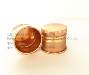 High Quality Aluminum Screw Caps for Cosmetic Jars Rolling Wire Caps pictures & photos