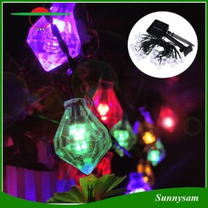 50LED Diamond Shape Solar Holiday String Lights for Home Garden Patio Lawn Party Wedding New Year Christmas Decorations pictures & photos