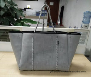 2017 Trend Products Perforated Neoprene Lady Fashion Tote Handbag pictures & photos