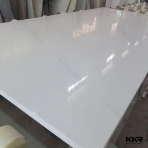 Largest Size Pearl White 30mm Engineered Quartz Slabs (Q1705083) pictures & photos