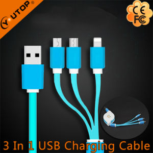 Hot Three in One USB Retractable Cable with Fast Speed pictures & photos