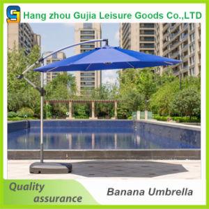 10 Feet Garden Banana Hanging Umbrella 3m Patio Offset Umbrella with Cross Base pictures & photos