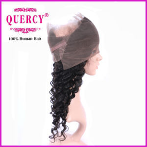 360 Lace Frontal Closure with Babies′ Hair, Natural Color Deep Wave pictures & photos