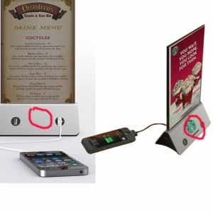 2016 New Design Mobile Restaurant RoHS Menu Power Bank 20000mAh Restaurant Menu Power Bank with LED Backlight pictures & photos