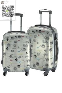 ABS/PC Printing Trolley Case 3 in 1 Set pictures & photos