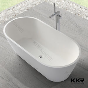 China stone resin bathtub small bathtub freestanding for Freestanding stone resin bathtubs