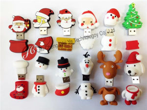 PVC Christmas Gift USB Flash Drive for Promotion