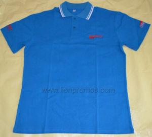 Custom Logo Embroidery Promotional 240GSM Cotton Pique Polo Shirt pictures & photos