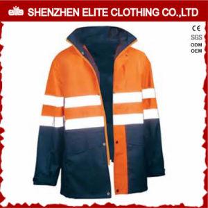 Waterproof Blue Work Wear Orange Reflective Safety Jacket (ELTSJI-16) pictures & photos