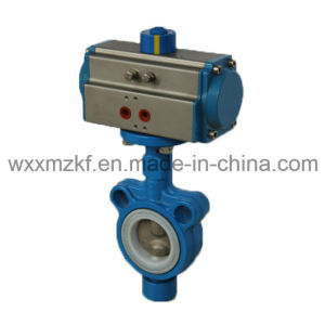Auto Control Butterfly Valve with Pneumatic Actuator (CE) pictures & photos