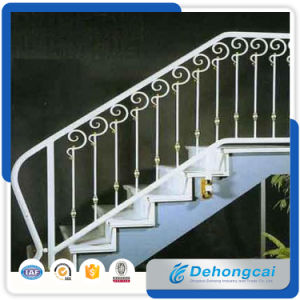 China Factory Wrought Iron Stairway Iron Craft Stair Railing pictures & photos