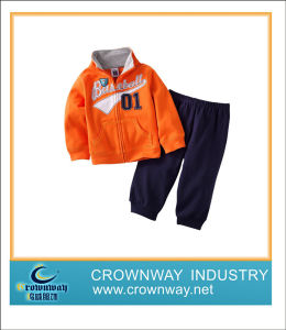 Sweatshirt-Kids 2 PCS Set with Embroidery on Chest pictures & photos