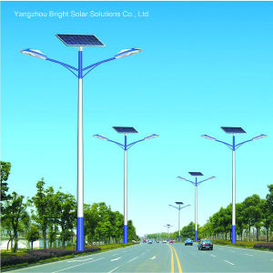 30W, 60W, 120W Double Arm High Power Solar Outdoor Lighting with Hot-DIP Galvanized Pole pictures & photos