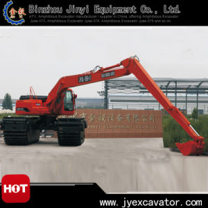 Ce Approved Hydraulic Excavator with 3 Chains Pontoon