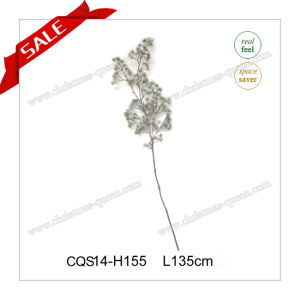 L135cm Plastic Snow Feel Pine Tree Branch Flocked pictures & photos