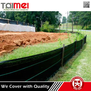 Black Green Erosion Silt Fence Fabric with Selvage pictures & photos