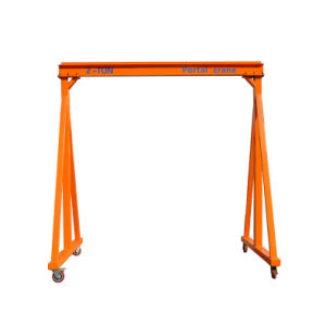 2t Capacity Manual Gantry Crane with Customized Design Adjustable Lifting Height Indoor and Outdoor