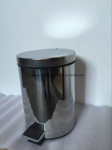 Round Stainless Steel Pedal Bin Garbage Can for 20L pictures & photos