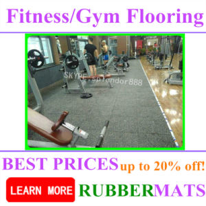 Soundproof Shockproof High Density Rubber Gym Fitness Room Flooring pictures & photos