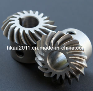 Custom Aluminum Crown Wheel Small Spiral Bevel Gears, Helix Gears pictures & photos