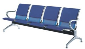 4-Seater Blue Barber Salon Waiting Chair with PU Cushion pictures & photos