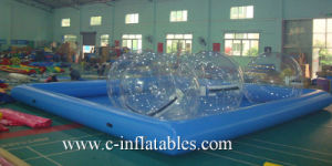 Blue Color Inflatable Big Square Water Pool for Adult / Commercial Inflatable Big Square Swimming Pool