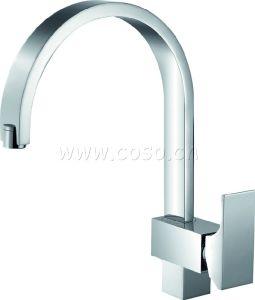 Brass Chrome Plating Kitchen Faucet Mixer Tap (DC1007) pictures & photos