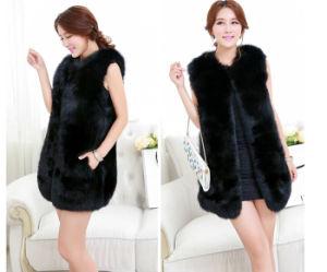 2015 Wholesale High -End Faux Fox Fur Vest