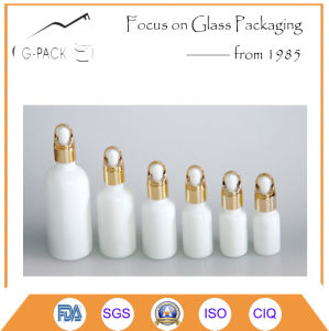 White Ceramic Cosmetic Jar and Bottle with Dropper pictures & photos