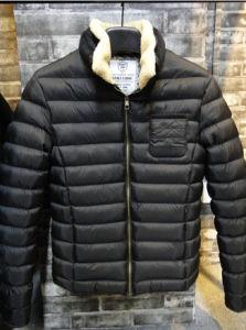 Men Black Fur Collar Winter Warm Lightwear Jackets pictures & photos