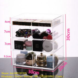 Professional Transparent Acrylic Makeup Storage Organization Box with Drawers pictures & photos