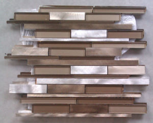 Strip Aluminum and Glass Mosaic Tile (HGM385) pictures & photos