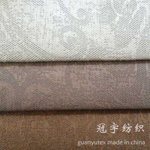 Polyester and Nylon Compound Corduroy Fabric with Pattern Design pictures & photos