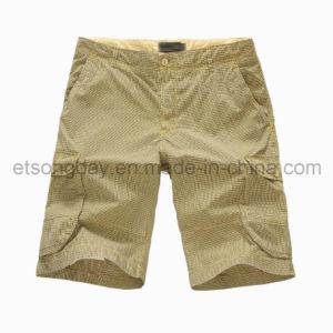 Hot Sale 100% Cotton Khaki Men′s Shorts (ALWA2611) pictures & photos