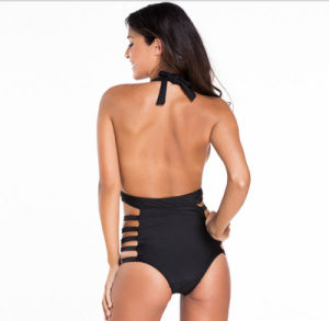 swimming Pool Party Latest Across Neck Lace-up Sex Backless Overalls Fashion Swimwear pictures & photos
