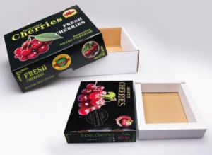 Offset Printing Cherries Fruits Packing Paper Box pictures & photos