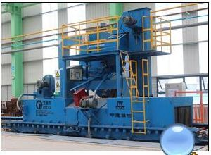 Steel Plate Shot Blasting Line pictures & photos
