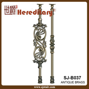 Bronze Color Villa Curved Casting Aluminum Stair Railing (SJ-B033) pictures & photos