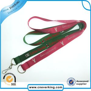 Cute Red Polyester Lanyard with Metal J-Hook pictures & photos