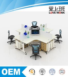 X-Shape Office Table Office Partition Workstation pictures & photos