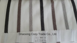 New Popular Project Stripe Organza Sheer Curtain Fabric 008221 pictures & photos