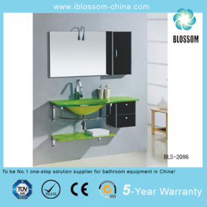 Hangzhou Sanitary Ware Glass Wash Basin with Mirror (BLS-2086) pictures & photos