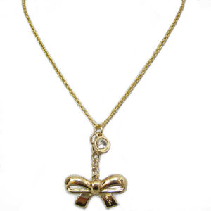 Fashion Jewelry Tie Pendant Necklace, Made of Zinc-Alloy and Iron Metal, 50 Cm Long, Hnk-11809