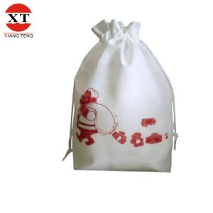 80g Non Woven White Drawstring Gift Bag Shoes Bag Fly-Dl40009 pictures & photos