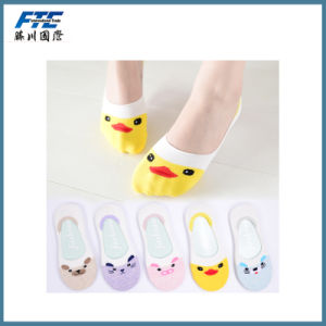 Thin Cartoon Invisible Socks Light Cotton Silicone Anti-Slip Sock pictures & photos