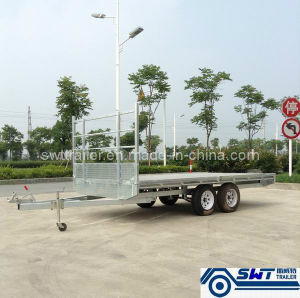 Flat Bed Transportation Trailer with 2t Pay Load (SWT-FTT147) pictures & photos