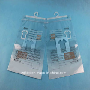 High Quality Printed PE Plastic Bags Hanger Zipper for Garment pictures & photos