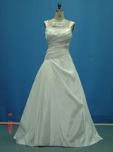 off Shoulder Beaded Taffeta Real Sample Wedding Dresses (WD2005) pictures & photos