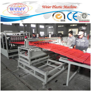 PVC/Pet/PC Plastic Roofing Sheet for Shed Recycled Roof Tile Machine pictures & photos