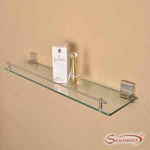 China brass gold plated bathroom accessories glass shelf for Gold glass bathroom accessories